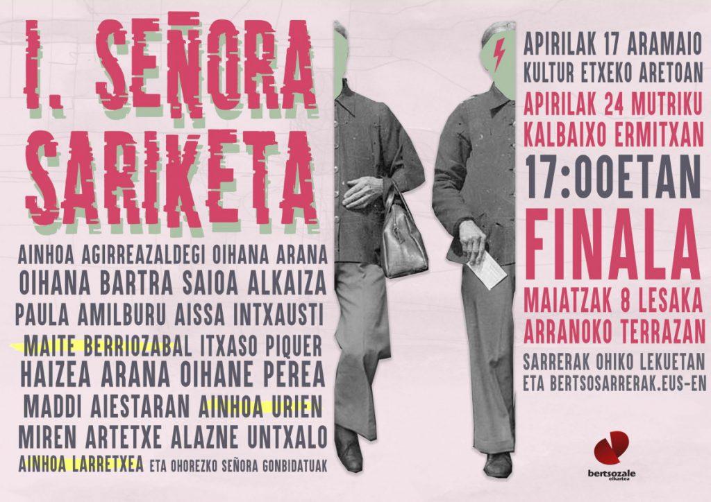 """Ane Zuazubiskar Iñarra: """"La I Señora Sariketa surge para cantar en esas claves compartidas y desde el feminismo"""""""