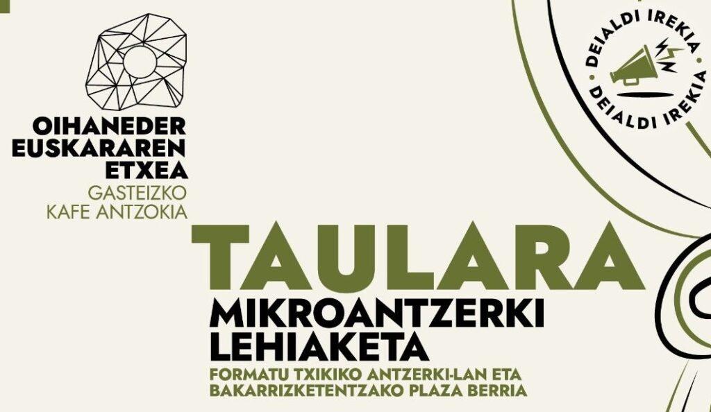 El 18 de junio se presentarán los trabajos ganadores del concurso Taulara