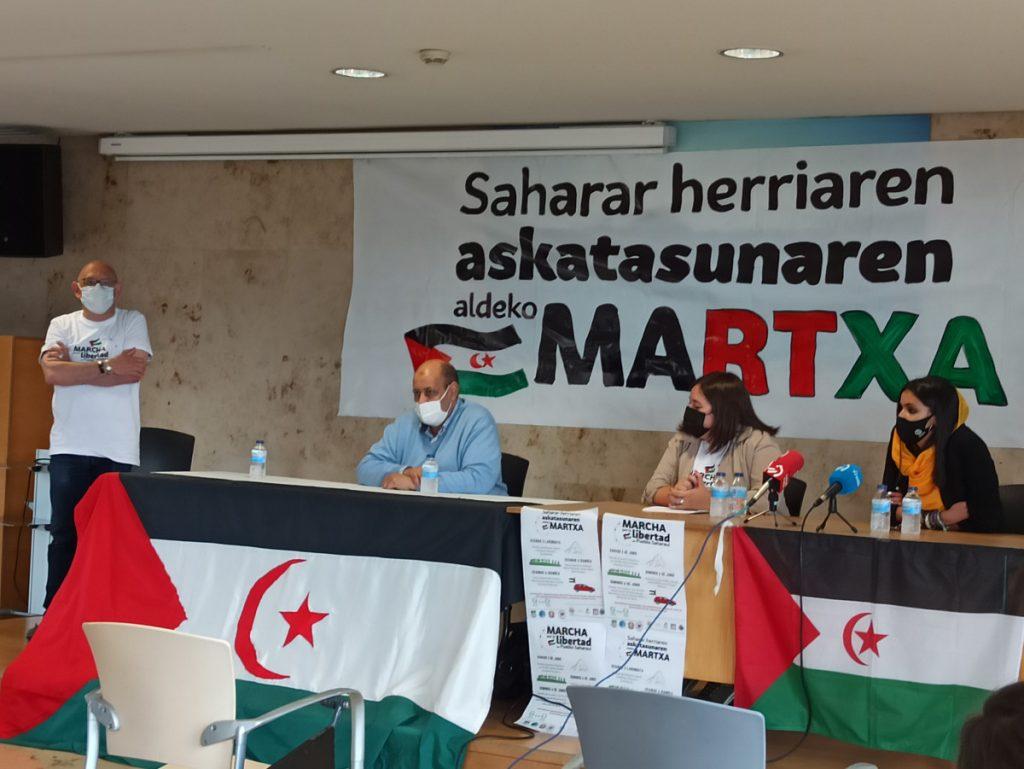 La marcha por la libertad del pueblo Saharaui finaliza el 6 de junio por las calles de Gasteiz