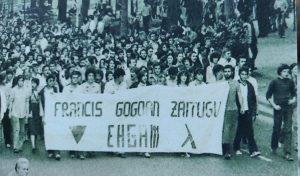 """""""Queremos recordar a la gente que abrió camino de muchas luchas y derechos conquistados y no dejaremos de luchar por ellas"""""""