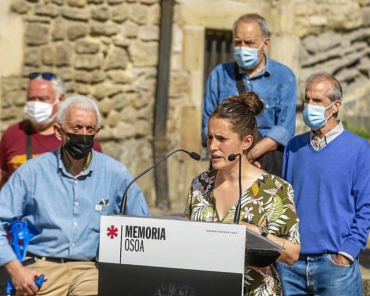 """Nerea Martinez (Memoria Osoa): """"Giza eskubideen urraketen arteko diskriminazioaren kontra egin behar dugu"""""""