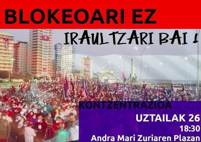 Kubako iraultzaren aldeko mobilizazioa deitu du Askapenak
