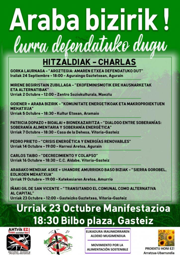El 23 de octubre, Araba bizirik!